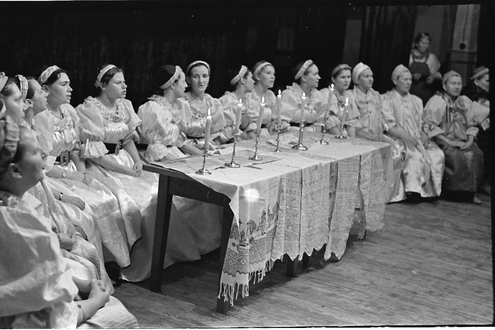 Сумпосадская фольклорная группа, 1972 г., г.Беломорск, районный смотр художественной самодеятельности