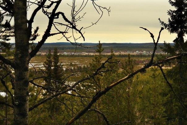 Вид со Святой горы. Нюхча. Фото В. Дрягуева (г. Беломорск, Республика Карелия)
