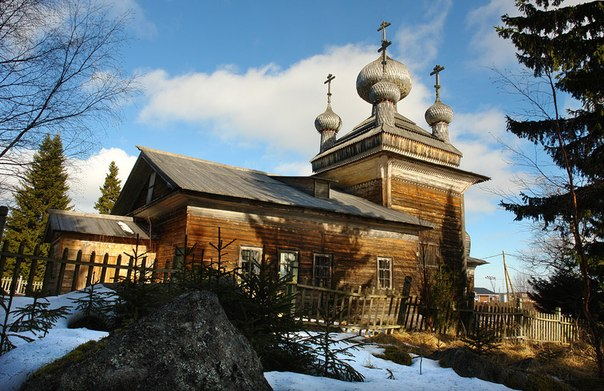 Храм Петра и Павла. Вирма. Март 2014 г. Фото Виктора Дрягуева