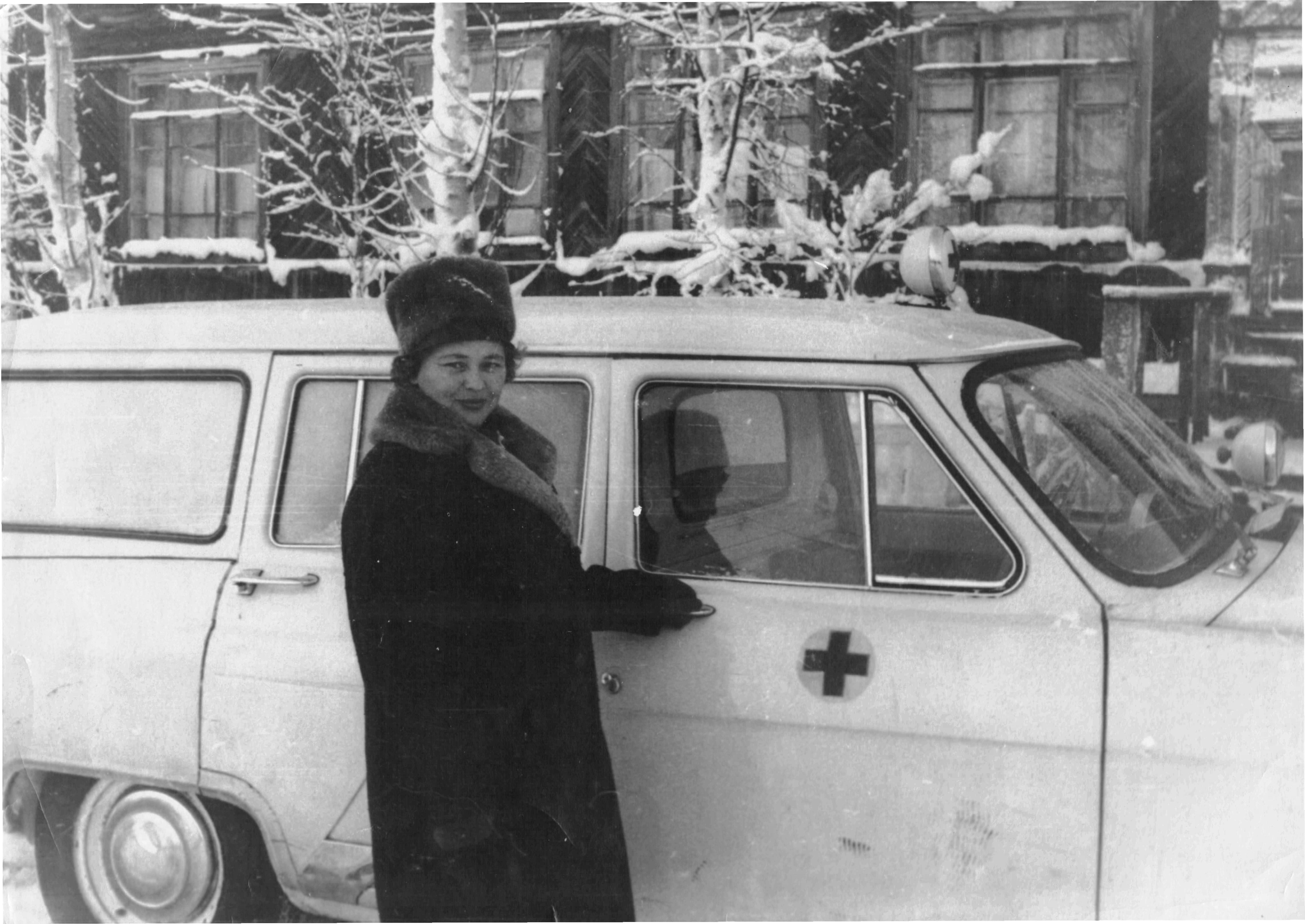А.Н. Крючкова на дежурстве 31 декабря 1967 год