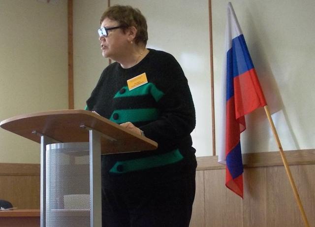 Выступает Г.Т. Пиганова, заслуженный работник культуры РК