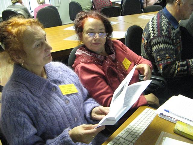 На занятии по проекту.3 октября 2013 г. Фото С. Кошкиной