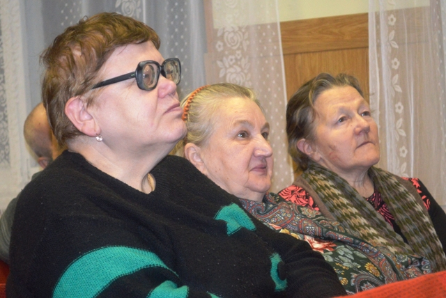 На встрече с Надеждой Васильевой в городе Беломорске, 17 декабря 2013 г. Фото Светланы Кошкиной