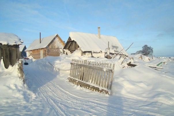 Возрождение деревни Сальнаволок. Новая баня. 25 января 2014 г. Фото Т. Каньшиевой