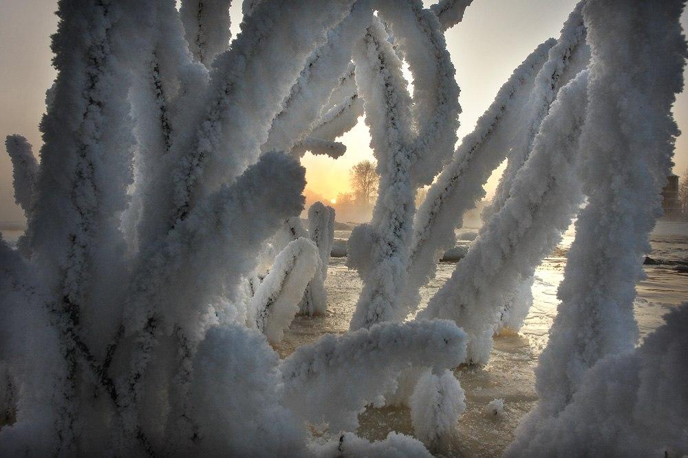 Восход в просвете. Фото Виктора Дрягуева