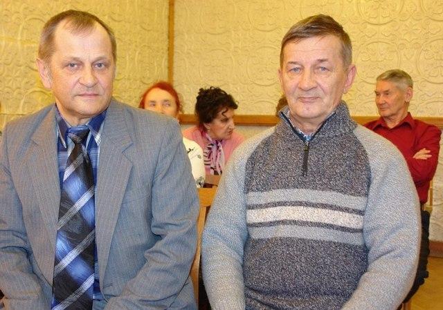 Владимир Михайлович Кобоев и Александр Михайлович Лазутин на премьере хронографа памятных дат. Фото В. С. Дрягуева