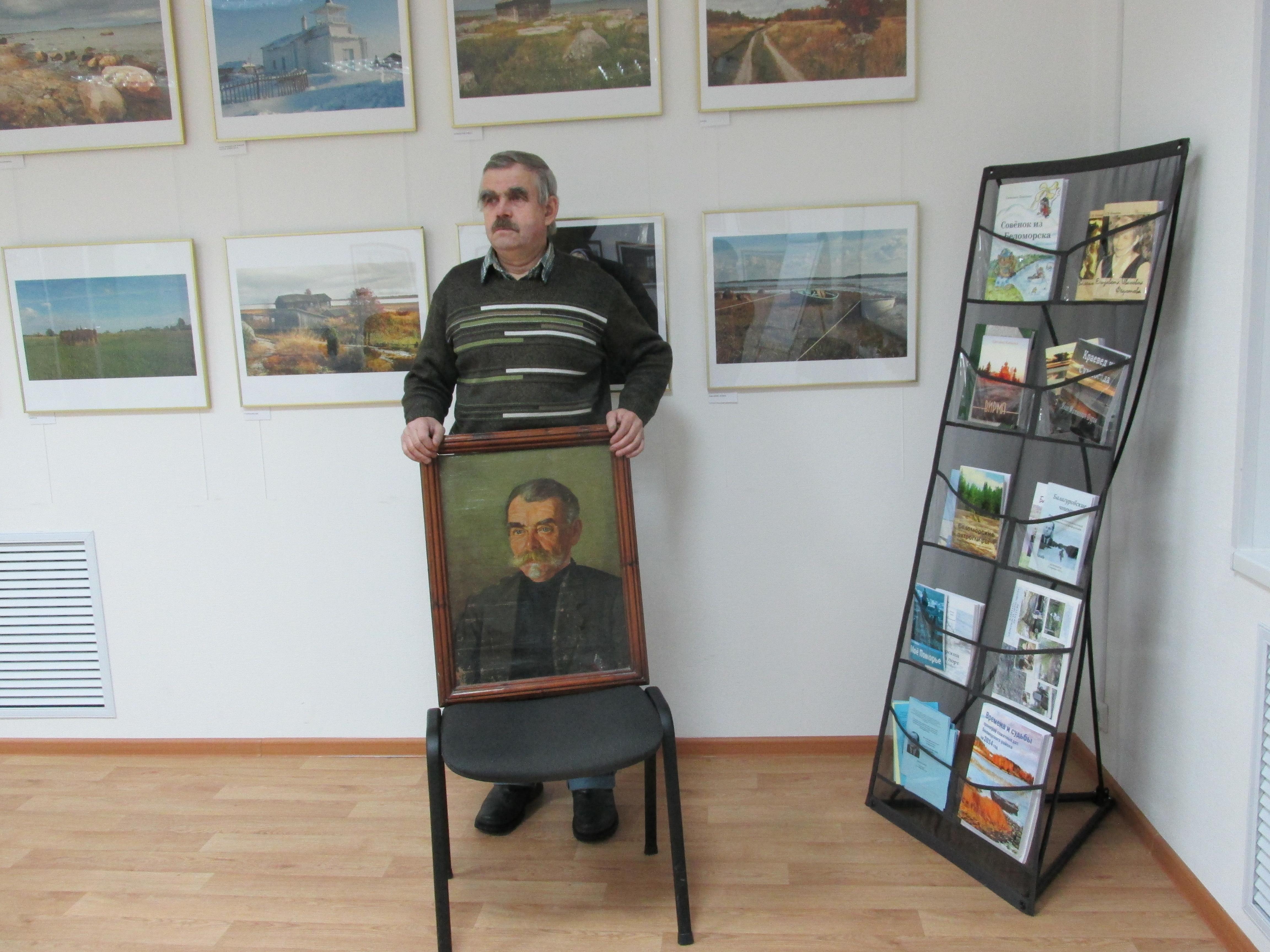 Борис Ильютик в Центре поморской культуры. 2 декабря 2014 г. Фото С. Кошкиной