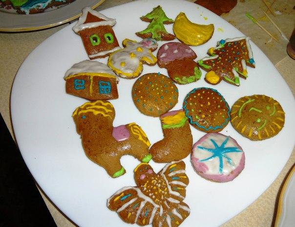 Готовые Рождественские пряники. Автор Татьяна Каньшиева (г. Беломорск)