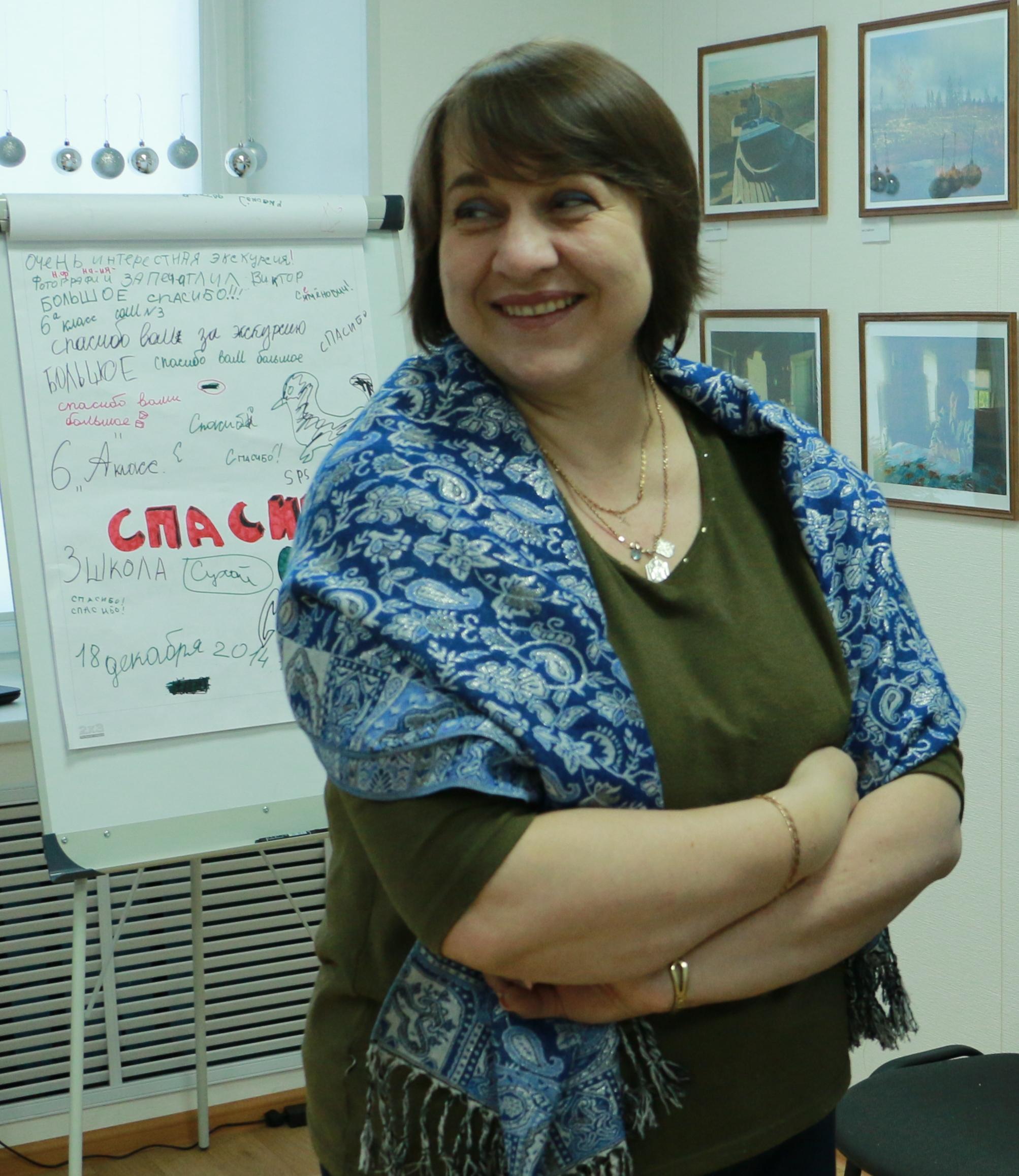 Е. Кулиева в Центре поморской культуры. 6 января 2015 г. Фото В. Дрягуева