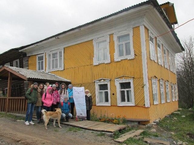 Сумпосадские школьники в Нюхче. 9 октября 2015 г.