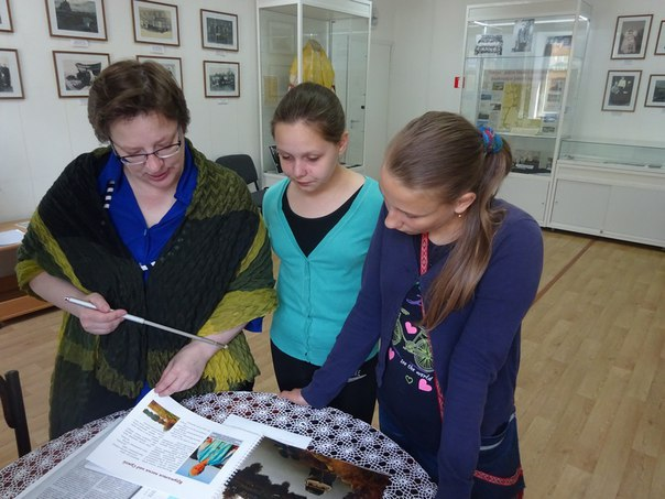 Встреча с юными исследователями – воспитанницами музея-мастерской «Рукоделия Поморья»