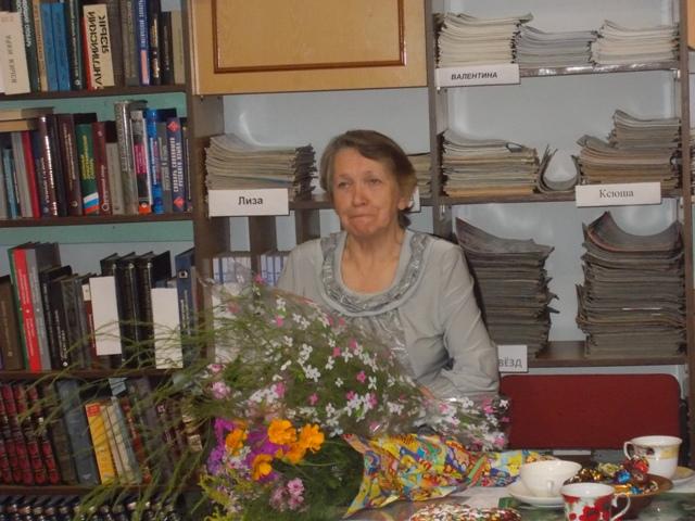 Галина Филипповна Гриценко. Летнереченская сельская библиотека. 31 августа 2018 г.